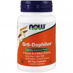 NOW FOODS Gr8-Dophilus, 60 kapsułek PROBIOTYK