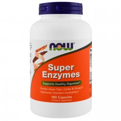 NOW FOODS Super Enzymes Enzymy trawienne, 180 kaps