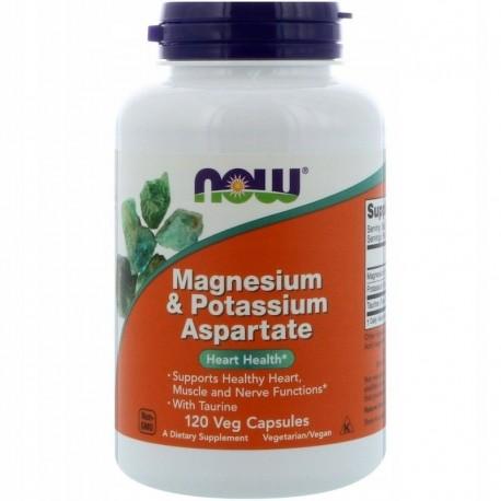 NOW FOODS Magnesium & Potassium Aspartate +Tauryna